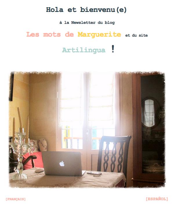 Newsletter Les mots de Marguerite