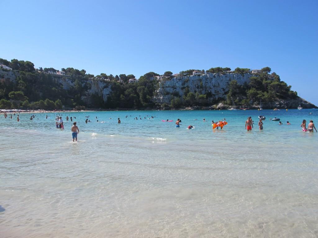 Plage de Cala Galdana à Minorque
