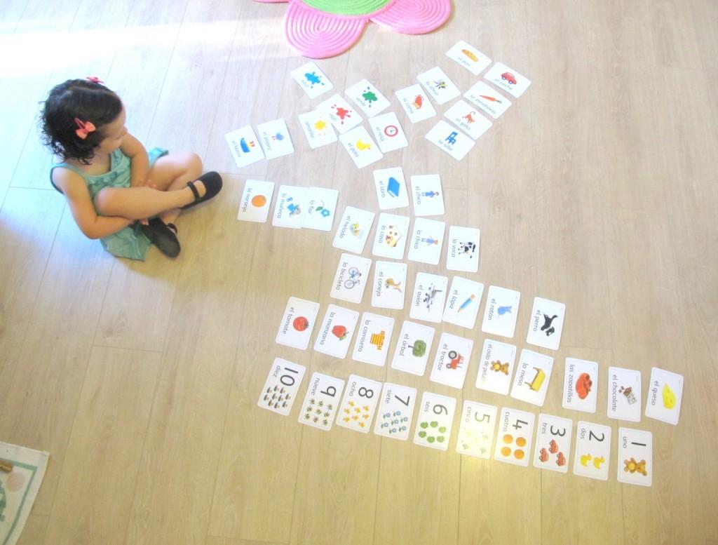 Mi hija trilingüe, sus progresos y la introducción de flashcards (métodos de utilización)