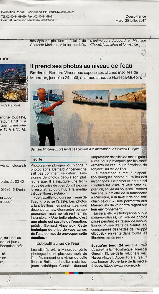 Interview Ouest-France Bernard Viceneux
