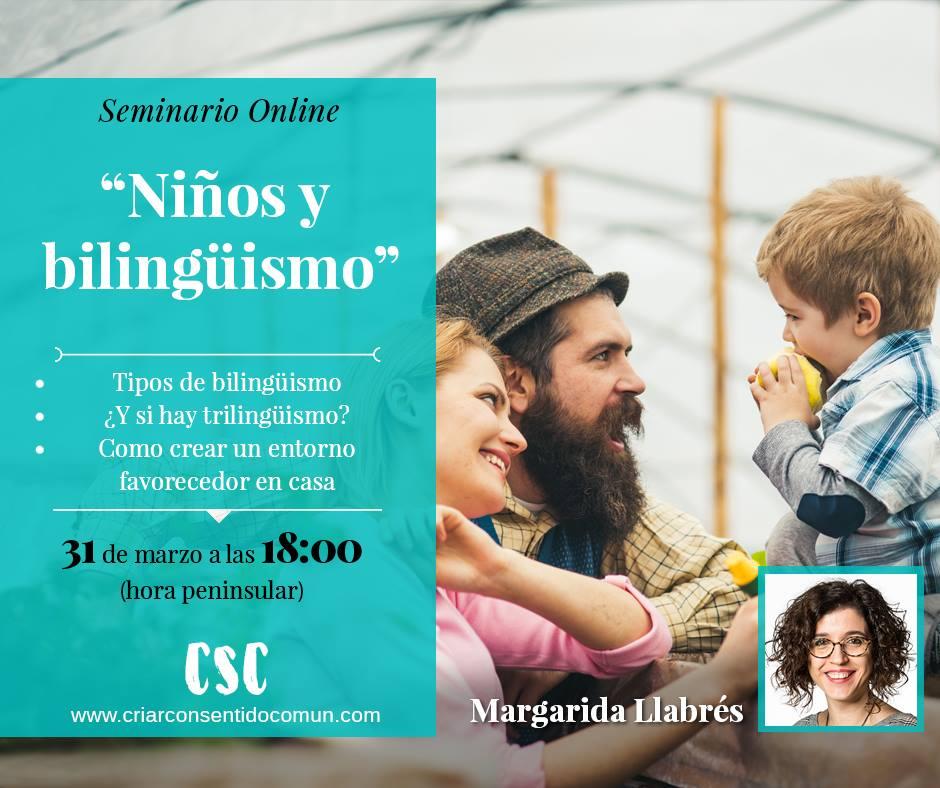 Margarida Llabrés seminario bilingüismo Criar con Sentido Común